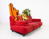 Bretz sofa after patterns by Keith Haring (1958-1990)