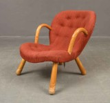 Attributed to Philip Arctander, lounge chair, model Clam Chair