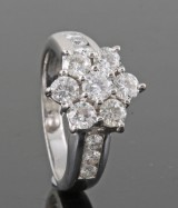 Diamond ring in 18kt approx. 1.50ct