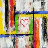 Jimmy Kessler, akryl på lærred, 'Follow your heart'