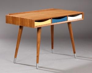 design skrivebord Moderne design. Skrivebord af teaktræ | Lauritz.com design skrivebord