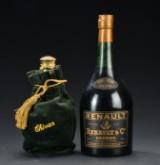1 fl. Magnum (1,5 liter) Renault Carte Noir Cognac samt 1 fl. Chivas Royal Salute (2)