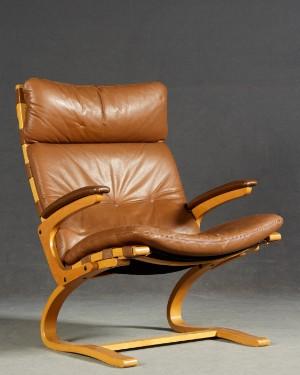 Lounge Sessel Freischwinger Im Stil Von Oddvin Rykken Lauritz Com