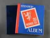 Norge. Samling frimærker i 2 albums