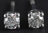 Earrings in 14k  with brilliant cut diamonds 0.45 ct