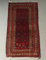Handknuten matta, semiantik, Beluch, 148x87 cm
