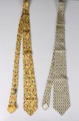 Hermés, slipsar, siden, 2 st