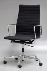 Charles Eames. Office chair, model EA-119, black hopsack