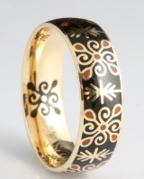 14kt coloured emaille ring, by S.T.diamond