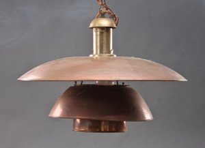 Vare: 2523534 Poul Henningsen. Kobberlampe PH O/5 pendel