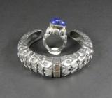 Armreif und Ring in Silber mit Gold und Lapis Lazuli ( 2 )