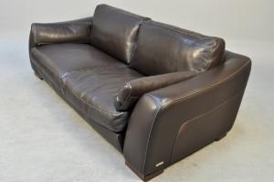 lot 3188867 incanto italian design brown leather sofa. Black Bedroom Furniture Sets. Home Design Ideas