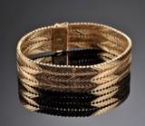 H.C. Kauffmann. Geneve armlænke af guld - 44 gram