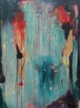 Margit Schmidt, akryl på lærred, komposition
