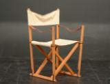 Mogens Koch, foldestol, bøg med kanvas og læder