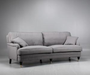 Sofa geschwungen  Howard 3-Sitzer-Sofa, geschwungen, grau | Lauritz.com