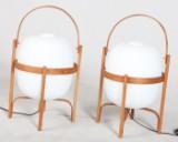 Miguel Mila, Paar Tischlampen / Tischleuchten Modell Cesta, für Santa & Cole (2)