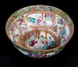 Skål, porslin, Kanton, Kina, 1800-tal