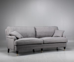 lot 3605539 three seater howard sofa curved grey this lot has been put up for resale under. Black Bedroom Furniture Sets. Home Design Ideas
