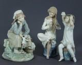 Figuriner, 3 st, porslin, Nao & Lladro, Spanien