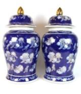 Paar chinesischen Deckelvasen (2)