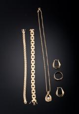 Samling guldsmykker - 41,7 gram (6)