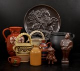 Parti fat, krus mm i keramik. Höganäs, Nittsjö, Anagrius mm (10)