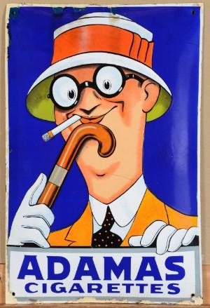Adamas Cigarettes adamas cigarettes. enamel sign | lauritz