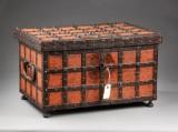 Baroque chest, iron-mounted oak, 18th century