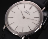 Piaget 'Ultrathin'. Vintage men's watch, 18 kt. white gold with automatic movement, 1960s