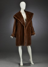 Brdr. Alex Petersen, swing mink fur coat, approx. 42/44