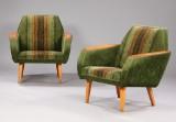Norsk møbelproducent. Par lænestole, teak (2)