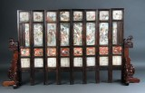 Chinese bringer of good fortune, with eight panels, 19th century