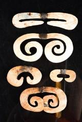 Asmat, Kasuarinakusten, Nya Guinea. 5 st näsprydnader (5)