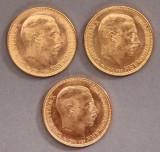En samling danske guld mønter. (3)