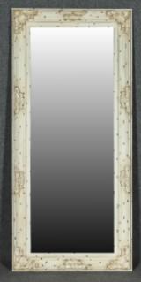 Stor Spegel, bemålad och patinerad ram, höjd 193 cm