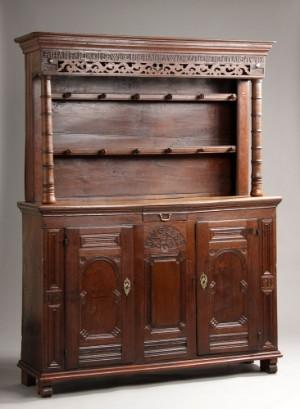 m bel barock 39 pralhals 39 39 kannenstock 39 aus eiche datiert 1788 dk vejle. Black Bedroom Furniture Sets. Home Design Ideas