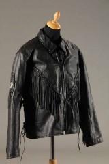 Læderjakke, sort, XL