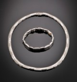 Smykkesæt af hvidguld 18 kt. - 53,4 gram (2)