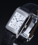 Jaeger-LeCoultre 'Reverso Grand Taille'. Men's watch, steel with reversible case, 2000s