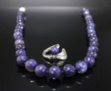 Smyckesset, 2 delar, Lapis Lazuli samt silver (2)