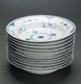 Royal Copenhagen, Blue Fluted Pattern, Half Lace, eleven bowls (11)