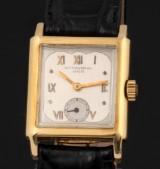 Patek Philippe. Vintage men's watch, 18 kt. gold wtih unusual dial, 1920s