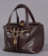 Gucci taske udført i brunt læder