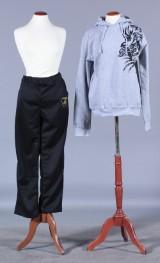 Sort Lamborghini pants samt grå Hoodie hættetrøje. Str. XL (2)