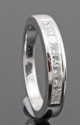 Platinum princess-cut diamond wedding ring approx. 0.35ct