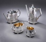 Peter Hertz. Coffee and tea service in silver, revival, c. 1890-1891 (4)