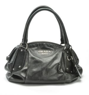 7d2361b88393 Prada. Handbag in black leather