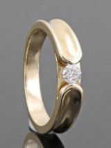 14kt. diamond ring approx. 0.15ct