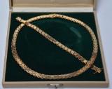 Søren Einar Jensen. Necklace and bracelet, 14 kt. gold (2)